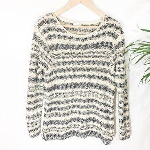 J. Jill Texture Stripe Sweater XS